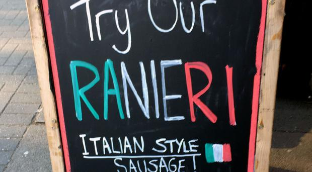 The Ranieri sausage remains on sale in Leicester despite Claudio Ranieri's sacking on Thursday.