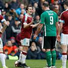 Joey Barton and Matt Rhead had a run-in at Turf Moor last weekend