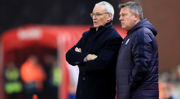 Leicester caretaker manager Craig Shakespeare, right, with former boss Claudio Ranieri