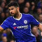 Diego Costa celebrates Chelsea's third goal