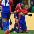 Patrick van Aanholt's goal secured Crystal Palace's victory over Middlesbrough