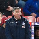 Sam Allardyce celebrated a rare win as Crystal Palace manager