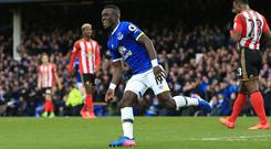 Idrissa Gana Gueye scored his first Premier League goal in Everton's 2-0 win over Sunderland