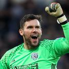 West Brom goalkeeper Ben Foster