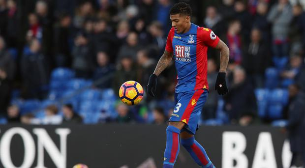 Patrick van Aanholt scored his first goal for Crystal Palace in the victory over Middlesbrough