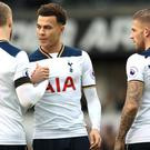 Eric Dier, left, believes Dele Alli, centre, showed his character against Stoke on Sunday