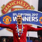 Manchester United's Zlatan Ibrahimovic has won his first major trophy with the club