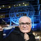 A fan with a Claudio Ranieri mask before the Premier League match at the King Power Stadium, Leicester.