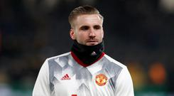 Luke Shaw has barely featured for Manchester United this season