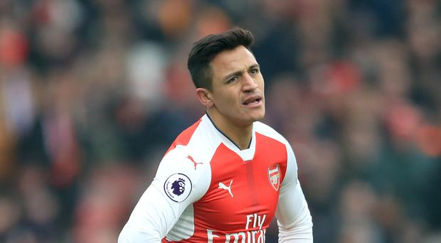 Alexis Sanchez started the 3-1 defeat on the bench