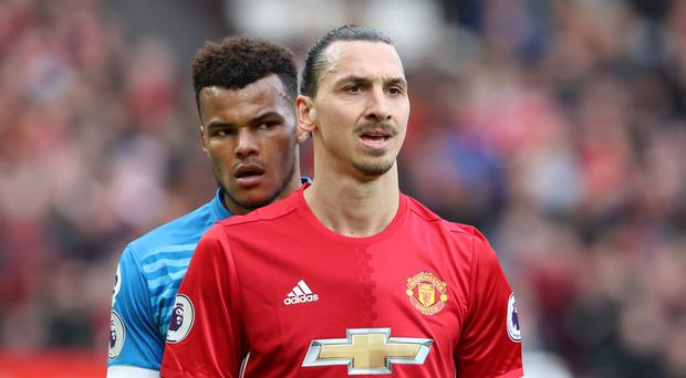 Bournemouth's Tyrone Ming, left, and Manchester United's Zlatan Ibrahimovic could both face disciplinary action