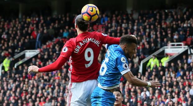Zlatan Ibrahimovic, left, and Tyrone Mings, right, are both set to serve suspensions