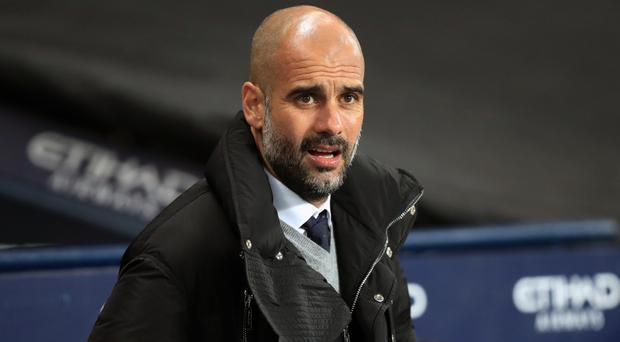 Man City boss Pep Guardiola. Photo: PA