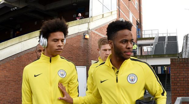 Manchester City's Leroy Sane (left) and Raheem Sterling (right) are in fine form