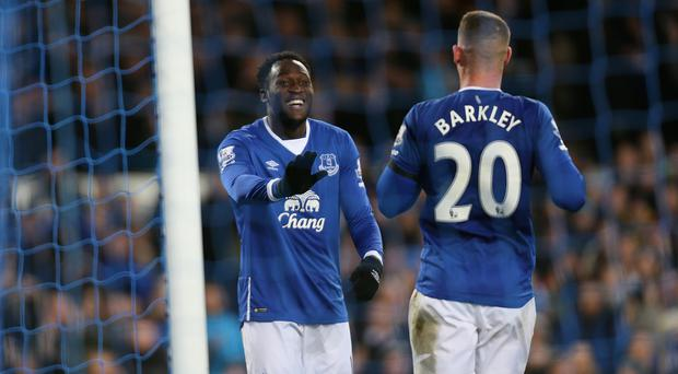 With Romelu Lukaku, left, set to sign a new contract, Everton have turned their attention to Ross Barkley's long-term future