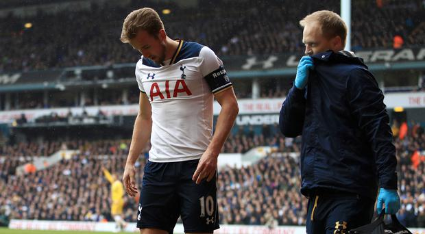 Tottenham forward Harry Kane suffered an ankle injury during the FA Cup quarter-final against Millwall