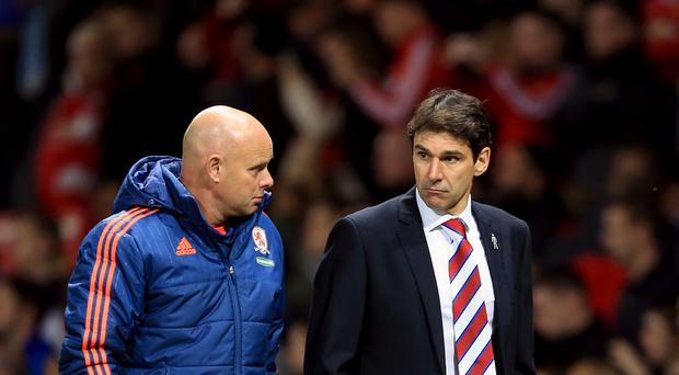 Steve Agnew, pictured left, has taken charge of Middlesbrough following the departure of Aitor Karanka, right