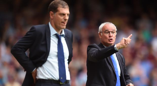 Slaven Bilic, left, was baffled by Leicester's decision to sack Claudio Ranieri, right