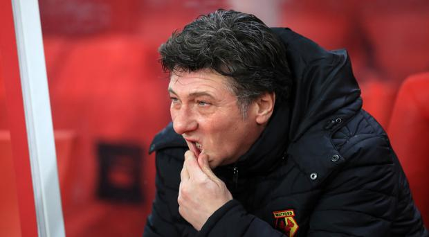 Walter Mazzarri's Watford team play just twice in March