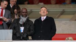 Sunderland chairman Ellis Short, right, was in the stands for the Premier League match against Burnley
