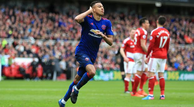 Jesse Lingard scored in Manchester United's win at Middlesbrough