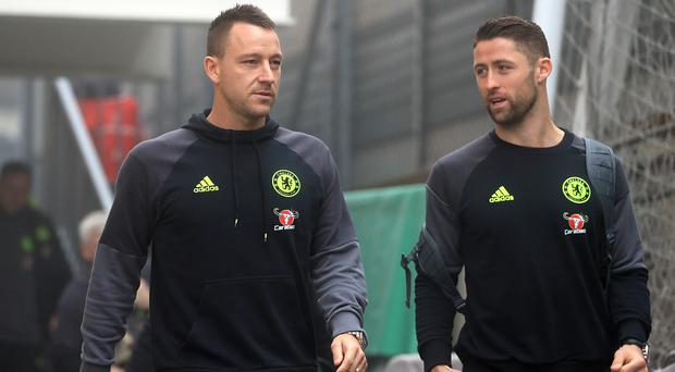 Gary Cahill, right, says John Terry is irreplaceable as Chelsea captain
