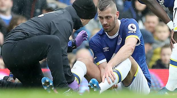 Everton midfielder Morgan Schneiderlin faces a race against time to be fit for the Merseyside derby