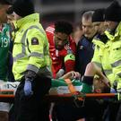 Seamus Coleman has undergone surgery on a double leg break