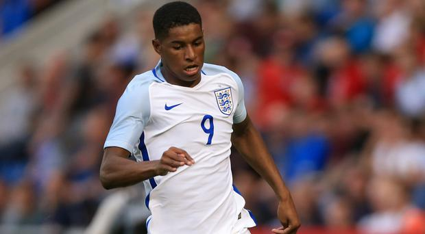 Marcus Rashford scored a hat-trick on his only previous appearance for England Under-21s