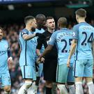 Manchester City have been fined for failing to ensure players conducted themselves in an orderly fashion against Liverpool