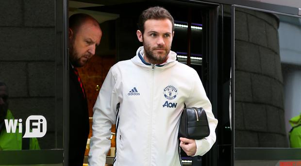 Juan Mata starts for Manchester United