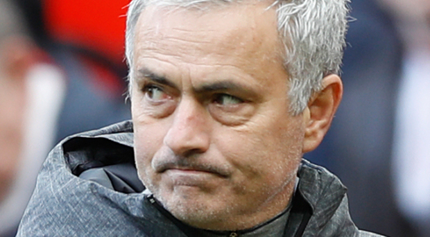 Manchester United manager Jose Mourinho was not a happy man.