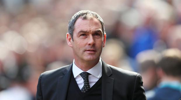 Swansea boss Paul Clement, pictured, retains faith in record signing Borja Baston