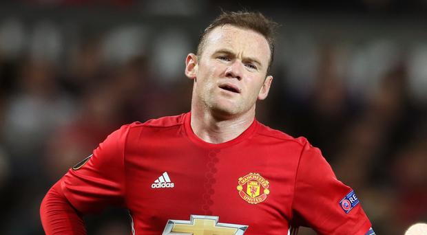 Wayne Rooney is struggling with an ankle injury