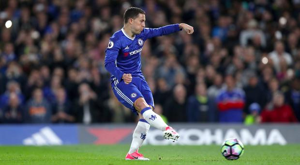 Chelsea's Eden Hazard missed a penalty but scored on the rebound