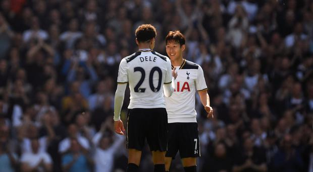 Son Heung-min, right, and Dele Alli, left, were both on the scoresheet for Spurs