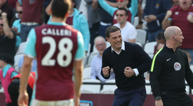Slaven Bilic finally had something to celebrate after West Ham beat Swansea.