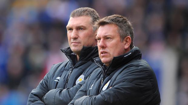 Nigel Pearson and Craig Shakespeare, right, during Pearson's spell as manager