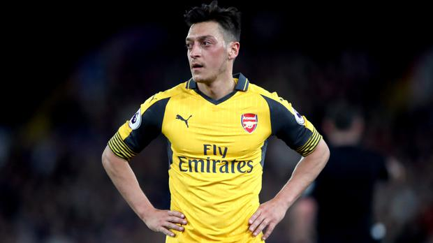 Arsenal's Mesut Ozil disappointed against Crystal Palace