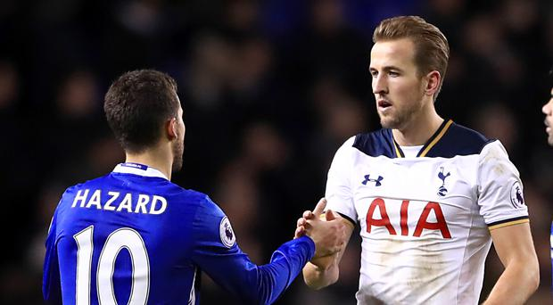 Harry Kane, pictured right, is the Premier League's leading English goalscorer for the third straight year while Eden Hazard is back to his best