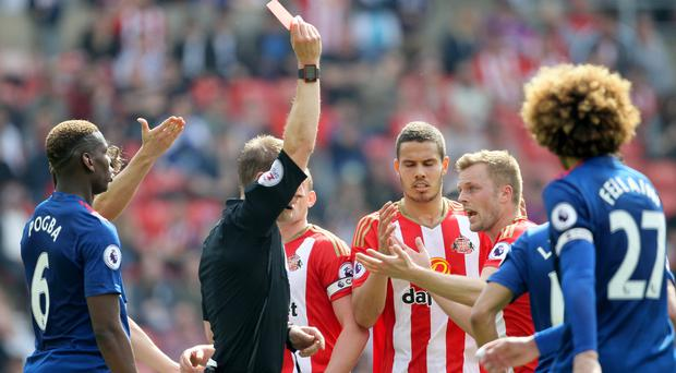 Sebastian Larsson will serve a three-match ban for his red card against Manchester United