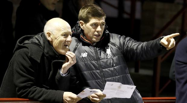 Steven Gerrard joined Liverpool's academy in February