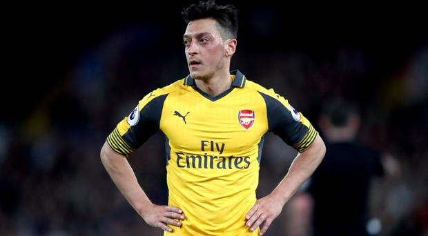 Mesut Ozil came in for criticism following Arsenal's defeat at Crystal Palace on Monday