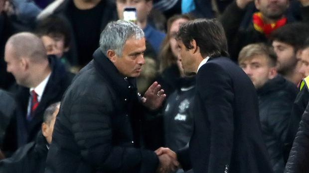 Jose Mourinho, left, and Antonio Conte, right, have a growing rivalry