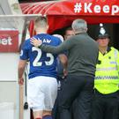 Manchester United defender Luke Shaw was given a pat on the back by manager Jose Mourinho after his performance at Sunderland