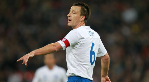 John Terry, pictured, succeeded David Beckham as England captain in 2006