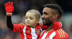 Jermain Defoe developed a close bond with Bradley Lowery