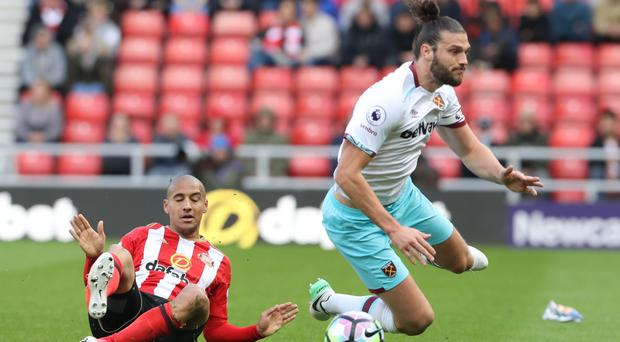 Andy Carroll, right, has suffered another injury