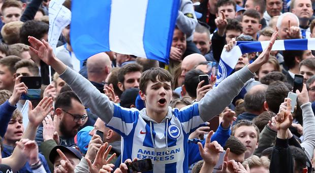 Brighton and Hove Albion promoted to the Premier League