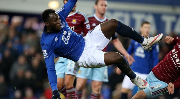 Everton's Romelu Lukaku has scored in each of his last nine matches against West Ham